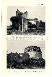 """""""Circo di Massenzio, una delle due torri del lato dei 'Carceres'"""" """"Tomba di Cecilia Metella e resti della facciata posteriore del Castello dei Caetani"""""""
